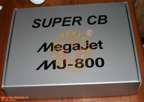 Радиостанция MegaJet MJ-800.  Вид внешней упаковки радиостанции.