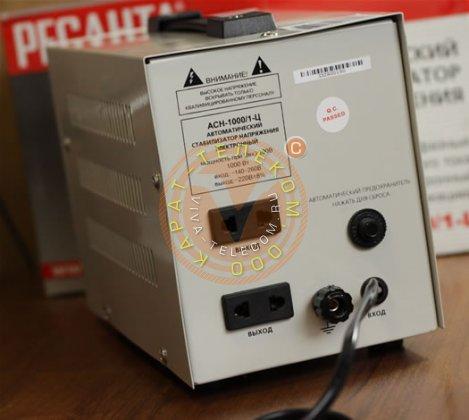 Бытовой стабилизатор напряжения 220В. Ресанта ASN-1000