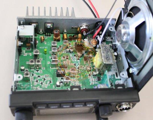 Навесные элементы печатной платы рации Мегаджет MJ-600 Turbo.